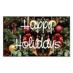 Happy Holidays Rectangle Sticker