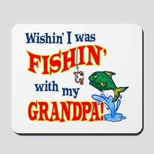 Fishing With Grandpa Mousepad