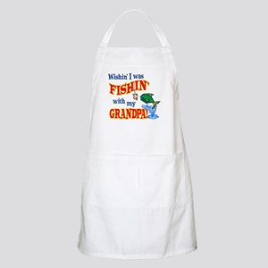 Fishing With Grandpa BBQ Apron