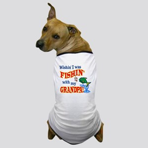 Fishing With Grandpa Dog T-Shirt
