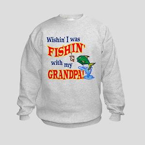 Fishing With Grandpa Kids Sweatshirt