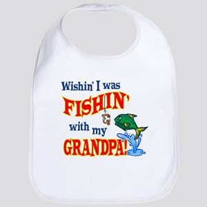 Fishing With Grandpa Bib
