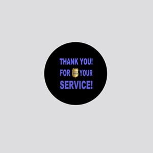 Police Officer Thank You Mini Button