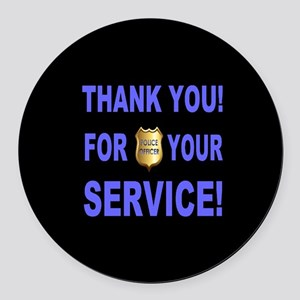 Police Officer Thank You Round Car Magnet