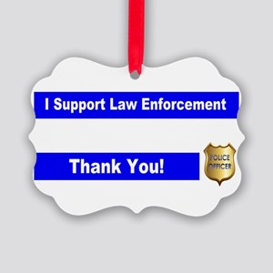 Police Officer Thank You Picture Ornament