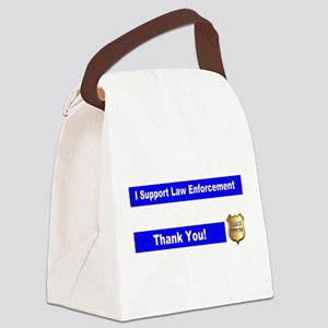 Police Officer Thank You Canvas Lunch Bag