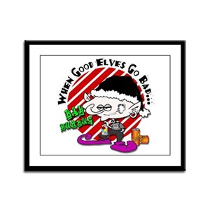 When Good Elves Go Bad Framed Panel Print