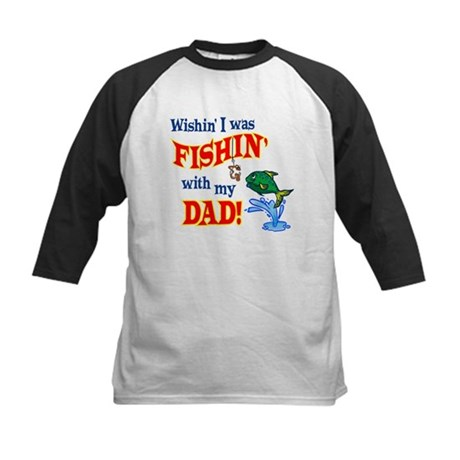 Fishing With Dad Kids Baseball Jersey