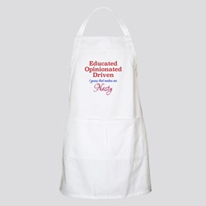 Educated,Opinionated,Driven Light Apron