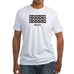 Knot - Black Fitted T-Shirt