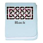 Knot - Black baby blanket