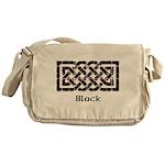 Knot - Black Messenger Bag