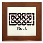 Knot - Black Framed Tile