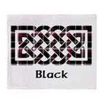 Knot - Black Throw Blanket