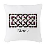 Knot - Black Woven Throw Pillow