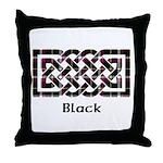 Knot - Black Throw Pillow