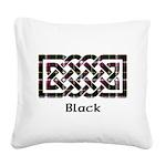 Knot - Black Square Canvas Pillow