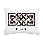 Knot - Black Rectangular Canvas Pillow
