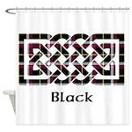 Knot - Black Shower Curtain