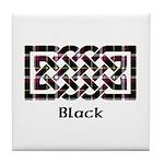Knot - Black Tile Coaster