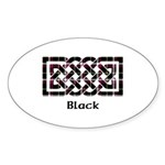 Knot - Black Sticker (Oval 10 pk)