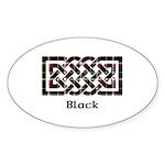 Knot - Black Sticker (Oval 50 pk)