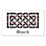 Knot - Black Sticker (Rectangle)