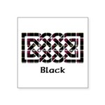 Knot - Black Square Sticker 3