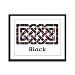 Knot - Black Framed Panel Print