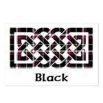 Knot - Black Postcards (Package of 8)