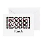 Knot - Black Greeting Card