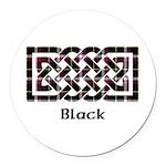 Knot - Black Round Car Magnet