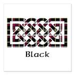 Knot - Black Square Car Magnet 3