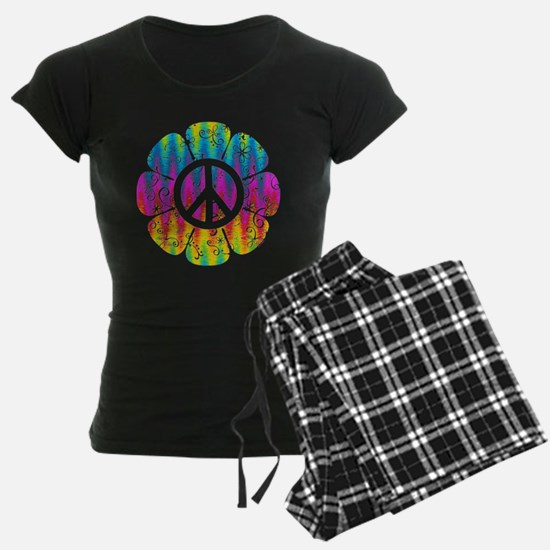 Colorful Peace Flower Pajamas