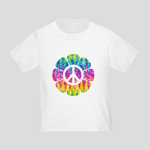 Colorful Peace Flower Toddler T-Shirt