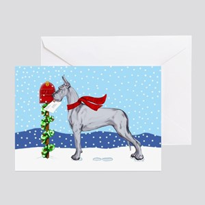 Great Dane Blue Mail Greeting Cards (Pk of 20)