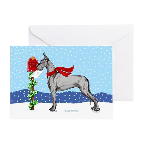 Great Dane Black Mail Greeting Card