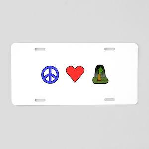 Peace Love Zombies Aluminum License Plate