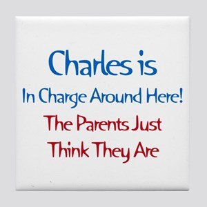 Charles Is In Charge Tile Coaster
