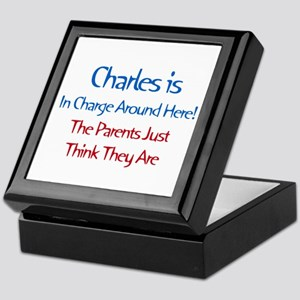Charles Is In Charge Keepsake Box