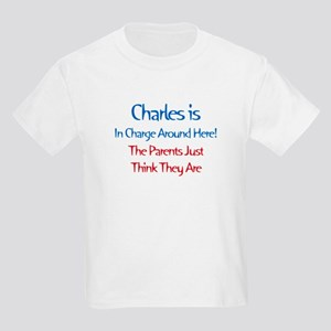 Charles Is In Charge Kids Light T-Shirt