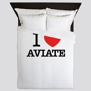 I Love AVIATE Queen Duvet