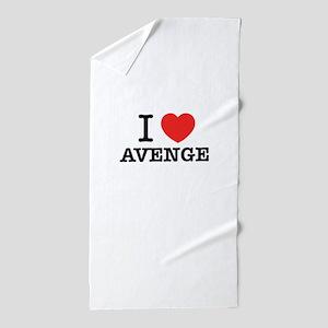 I Love AVENGE Beach Towel