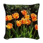Tulips Woven Throw Pillow