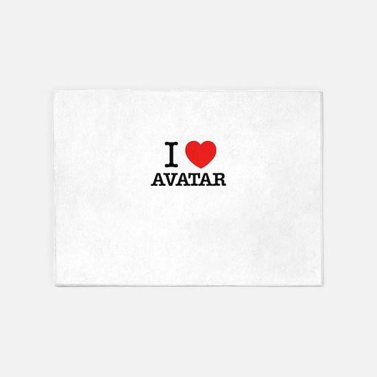 I Love AVATAR 5'x7'Area Rug