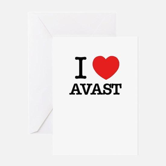 I Love AVAST Greeting Cards
