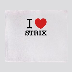 I Love STRIX Throw Blanket
