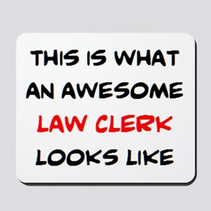 awesome law clerk Mousepad