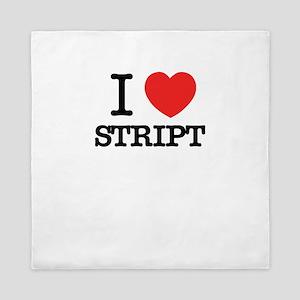 I Love STRIPT Queen Duvet