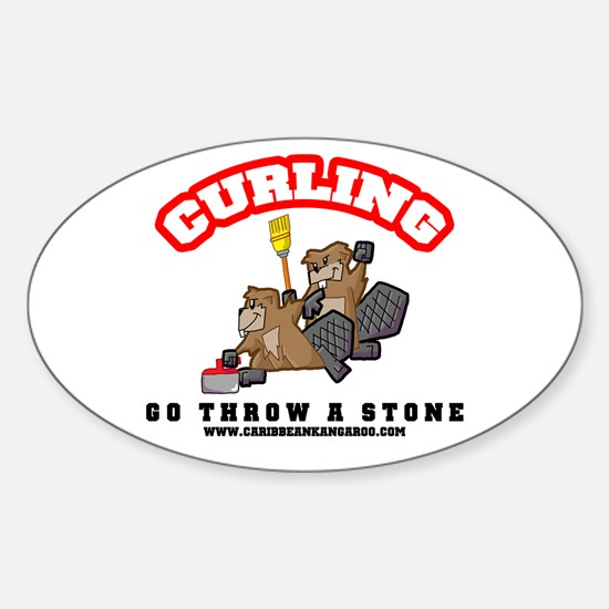 Curling Beavers Sticker!